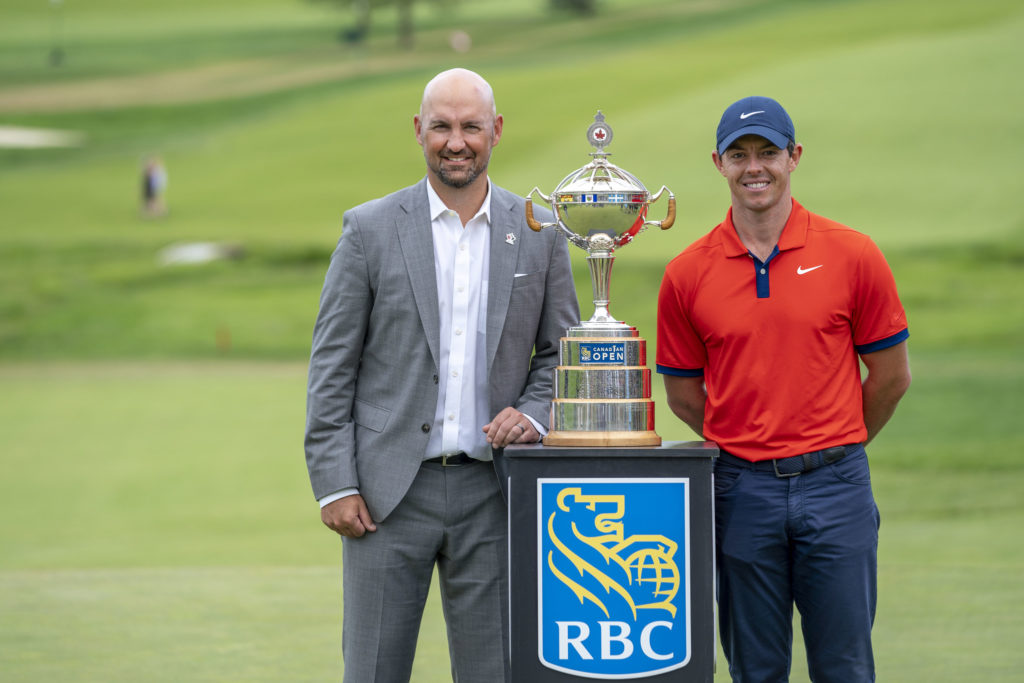 Laurence Applebaum and Rory McIlroy